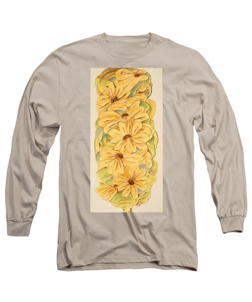 Wild Flower Abstract Long Sleeve T-Shirt by Theresa Marie Johnson