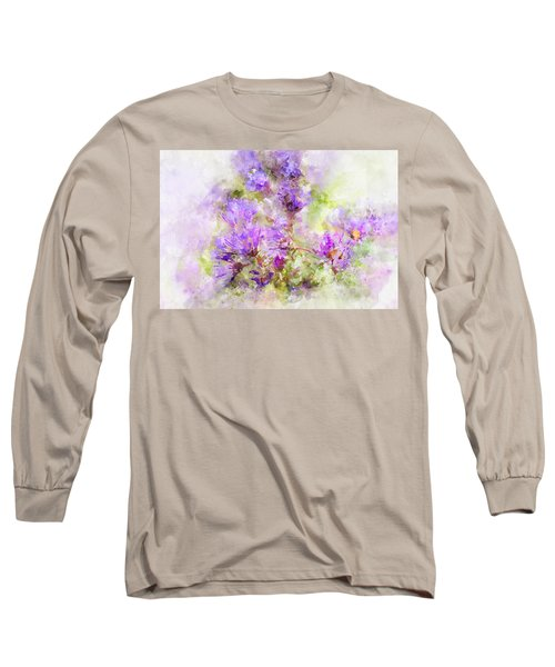 Wild Flowers In The Fall Watercolor Long Sleeve T-Shirt