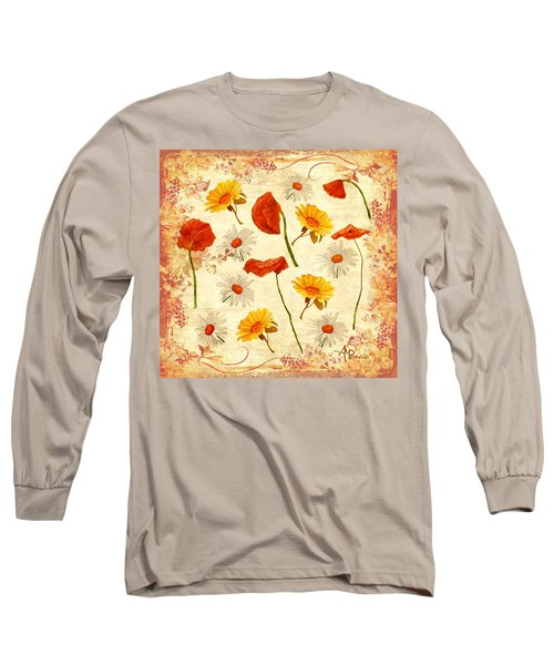 Wild Flowers Vintage Long Sleeve T-Shirt