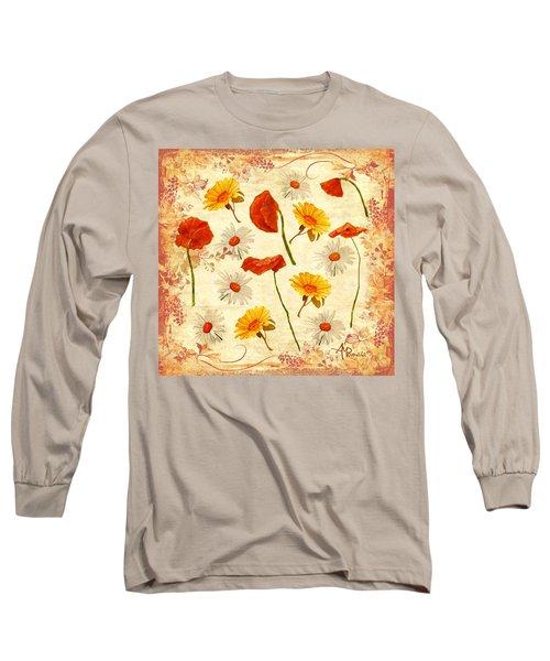 Wild Flowers Vintage Long Sleeve T-Shirt