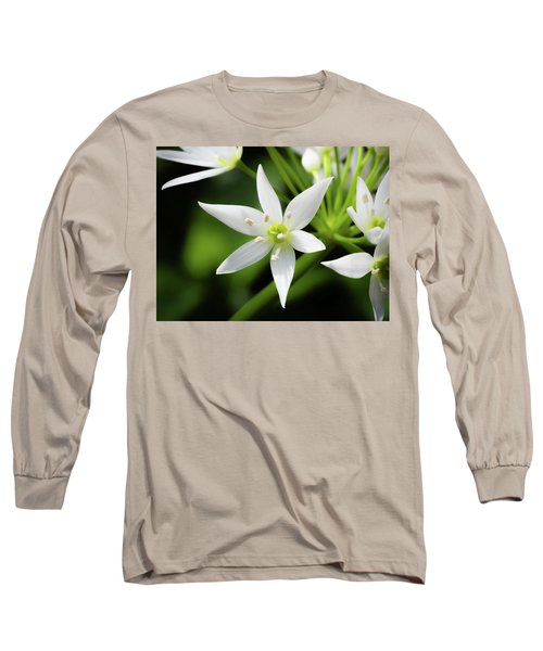 Long Sleeve T-Shirt featuring the photograph Wild Garlic Flower by Nick Bywater