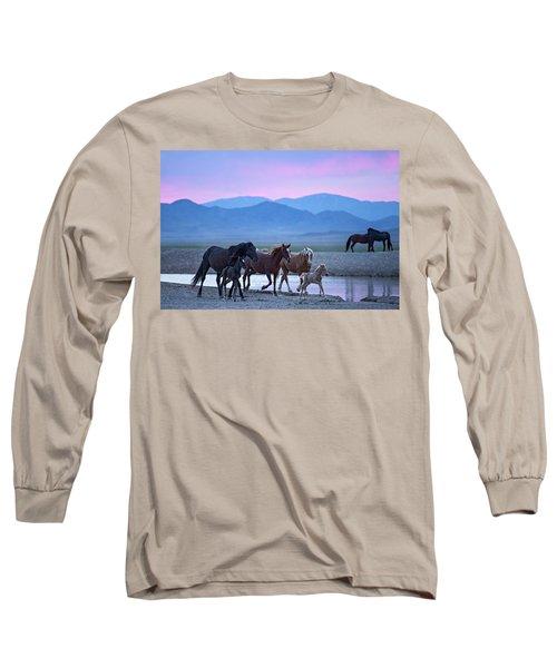 Wild Horse Sunrise Long Sleeve T-Shirt