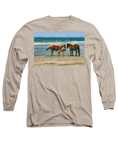 Wild Horses Of The Outer Banks Long Sleeve T-Shirt