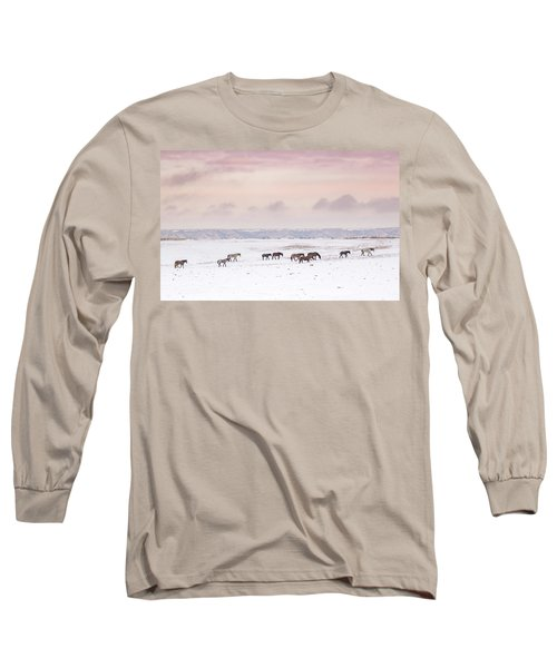 Wild Horses Out West Long Sleeve T-Shirt