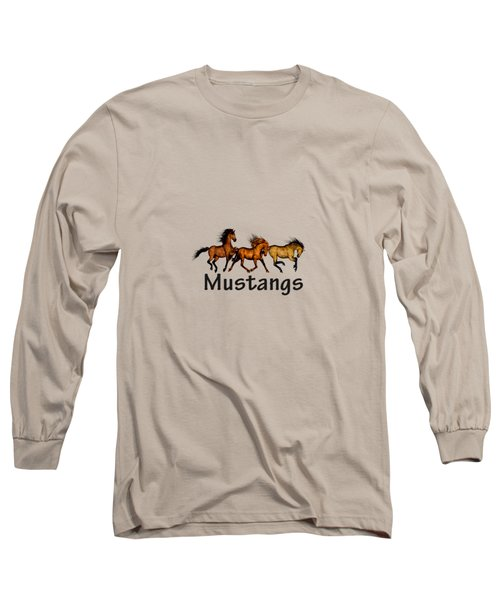 Wild Mustangs On The Run Long Sleeve T-Shirt
