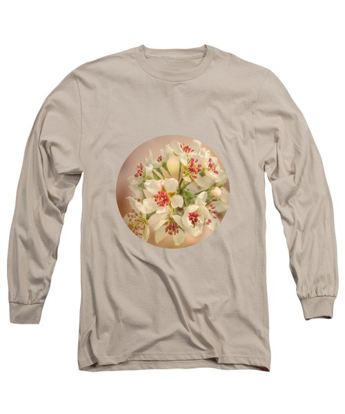 Wild Pear Blossom Long Sleeve T-Shirt