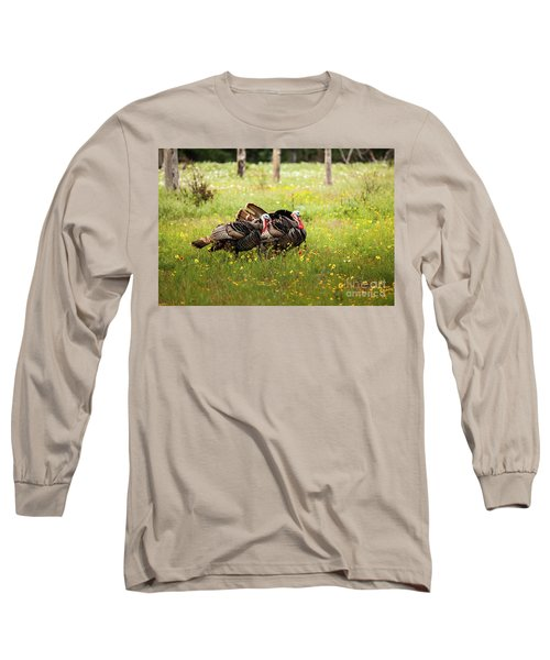 Wild Turkey's Dance Long Sleeve T-Shirt