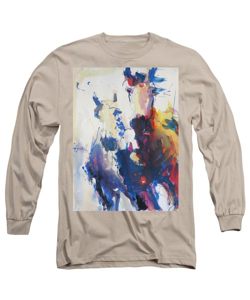 Long Sleeve T-Shirt featuring the painting Wild Wild Horses by Robert Joyner