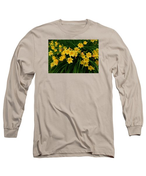 Wildflower Bouquet Long Sleeve T-Shirt by Linda Edgecomb