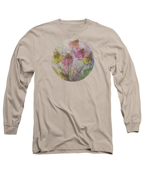 Long Sleeve T-Shirt featuring the painting Wildflowers 2 by Mary Wolf