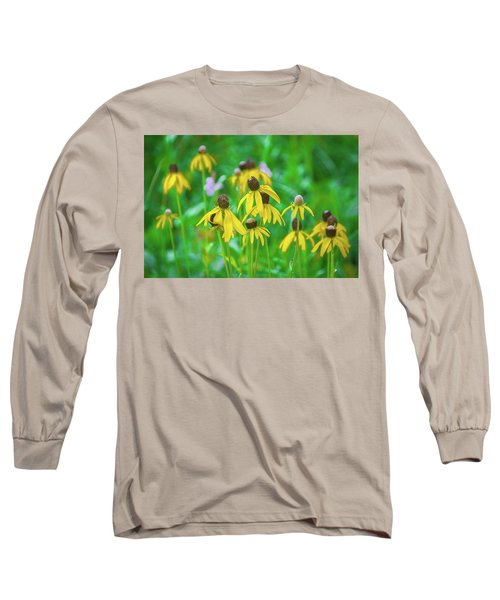 Long Sleeve T-Shirt featuring the photograph Wildflowers Of Yellow by Bill Pevlor
