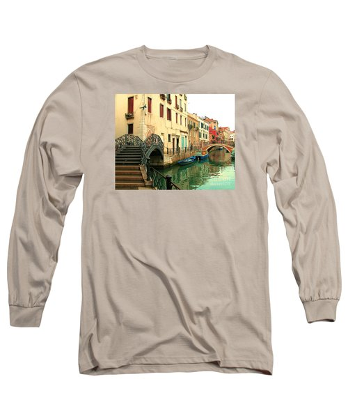 Winding Through The Watery Streets Of Venice Long Sleeve T-Shirt by Barbie Corbett-Newmin