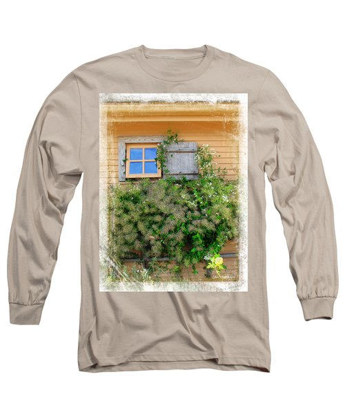 Long Sleeve T-Shirt featuring the photograph Window Floral In Plymouth by Joan  Minchak