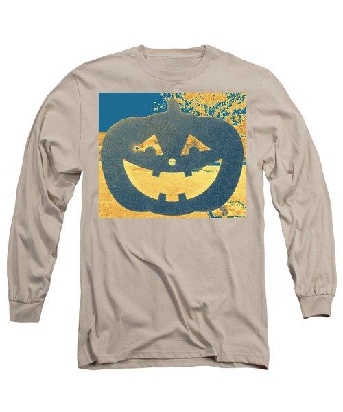 Window Pumpkin #2 Long Sleeve T-Shirt