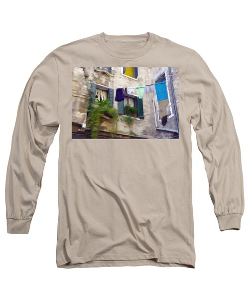 Windows Of Venice Long Sleeve T-Shirt by Jeff Kolker
