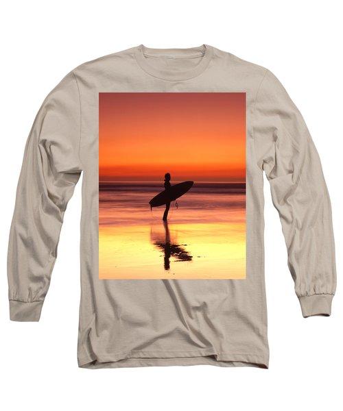 Windsurfer At Widemouth Bay, Bude, Cornwall Long Sleeve T-Shirt