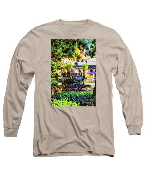 Wine Wagon Long Sleeve T-Shirt by Rick Bragan