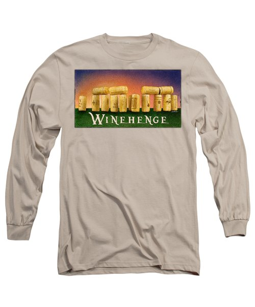 Winehenge Long Sleeve T-Shirt by Will Bullas