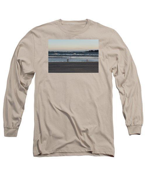 Wingaersheek Beach Seagulls At Sunrise Long Sleeve T-Shirt