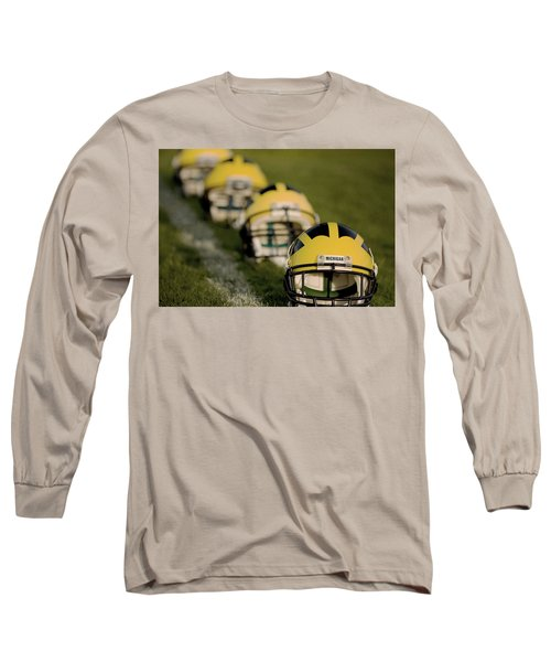 Winged Helmets On Yard Line Long Sleeve T-Shirt