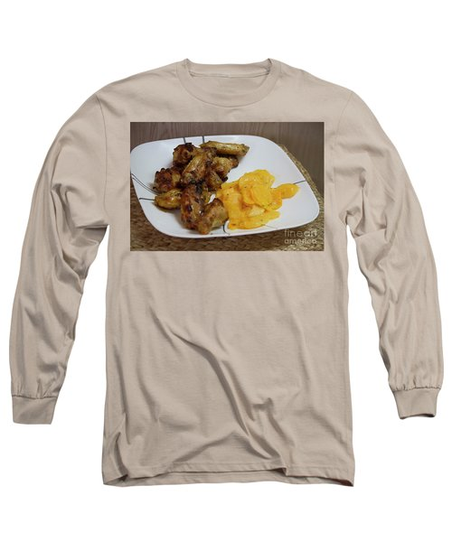 Winner Winner Chicken Dinner Long Sleeve T-Shirt by Anne Rodkin