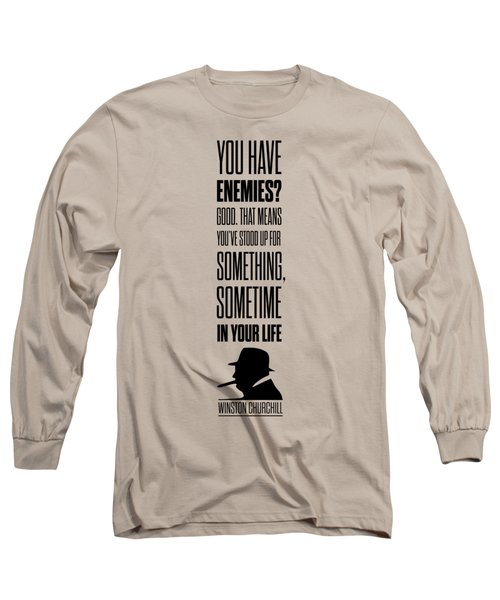 Winston Churchill Inspirational Quotes Poster Long Sleeve T-Shirt