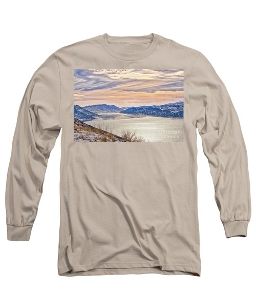 Winter At Horsetooth Reservior Long Sleeve T-Shirt