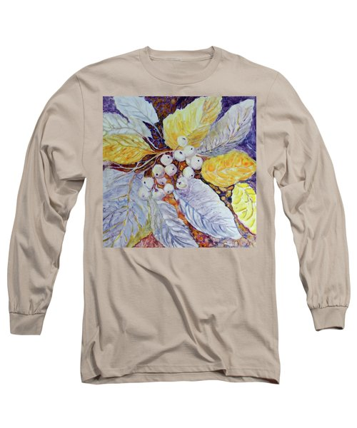 Long Sleeve T-Shirt featuring the painting Winter Berries by Joanne Smoley