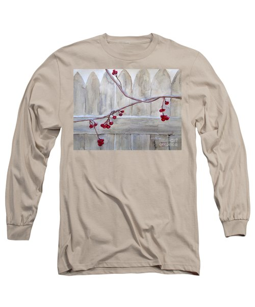Winter Berries Watercolor Long Sleeve T-Shirt