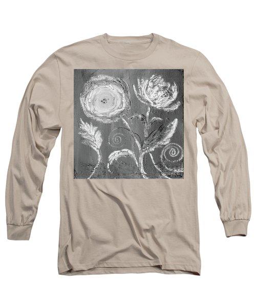 Long Sleeve T-Shirt featuring the digital art Winter Bloom II by Robin Maria Pedrero