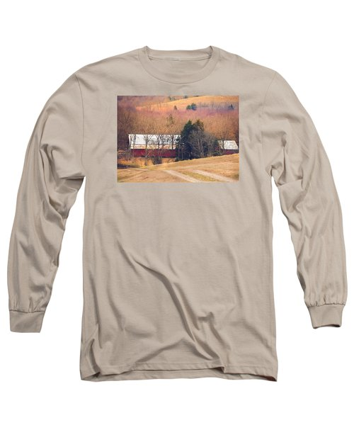 Long Sleeve T-Shirt featuring the photograph Winter Day At The Farm by Debbie Karnes
