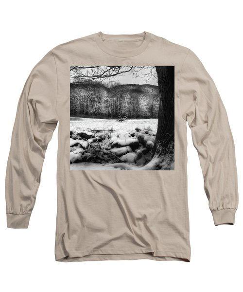 Long Sleeve T-Shirt featuring the photograph Winter Dreary Square by Bill Wakeley