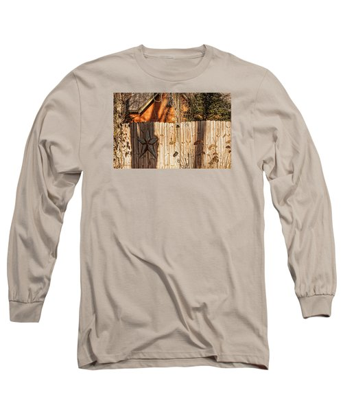 Winter Fence Long Sleeve T-Shirt by Trey Foerster