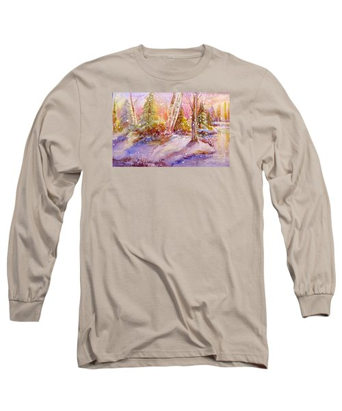 Winter Forest  Long Sleeve T-Shirt by Patricia Schneider Mitchell