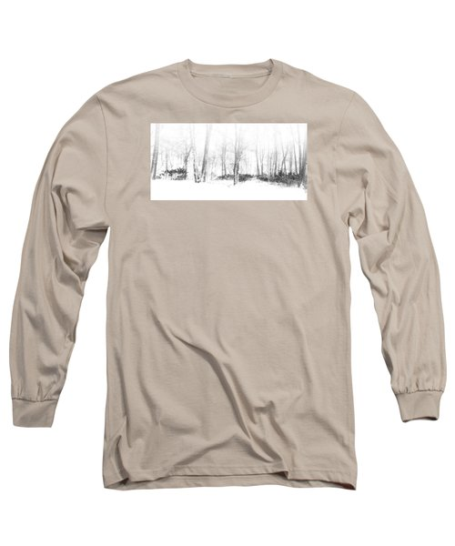 Snowy Forest - North Carolina Long Sleeve T-Shirt