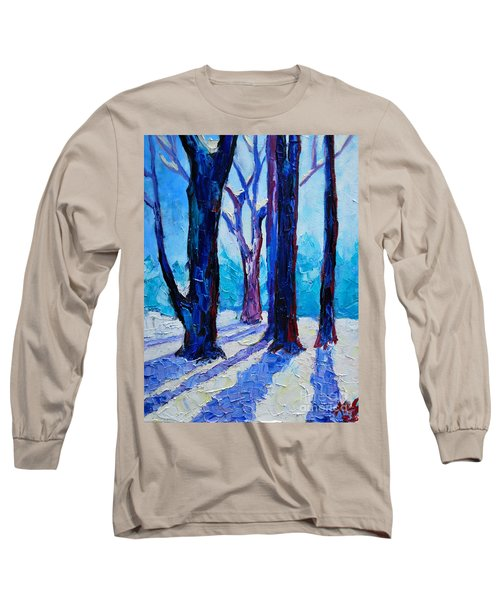 Winter Impression Long Sleeve T-Shirt by Ana Maria Edulescu