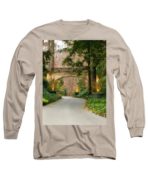 Winter In The Garden Long Sleeve T-Shirt by Robin Regan