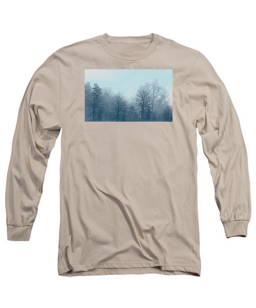 Long Sleeve T-Shirt featuring the digital art Winter Morning by Milena Ilieva