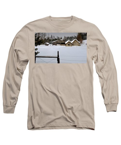 Winter On The Ranch Long Sleeve T-Shirt