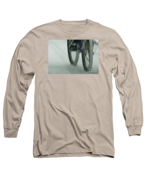 Winter Ride Long Sleeve T-Shirt by Linda Shafer
