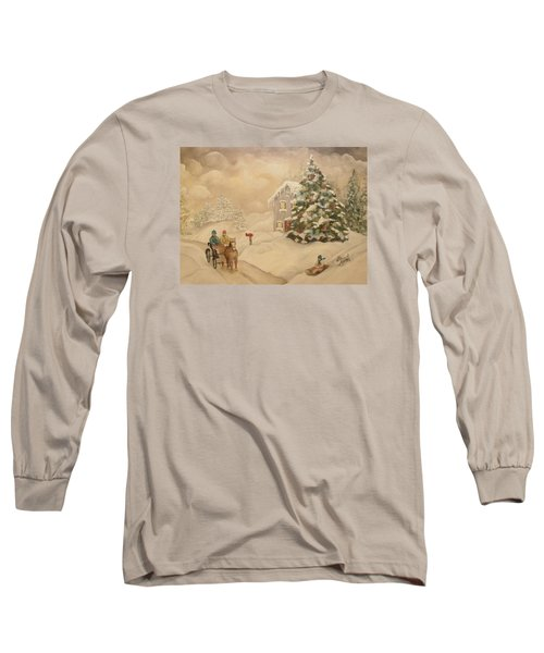 Winter Scene Long Sleeve T-Shirt by John Stuart Webbstock