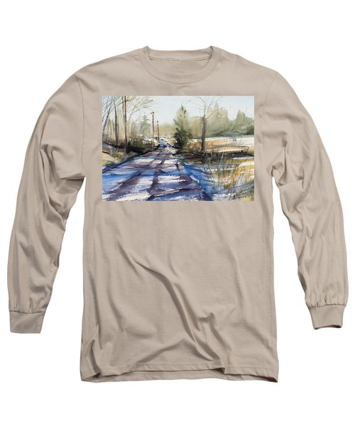 Winter Shadows  Long Sleeve T-Shirt by Judith Levins