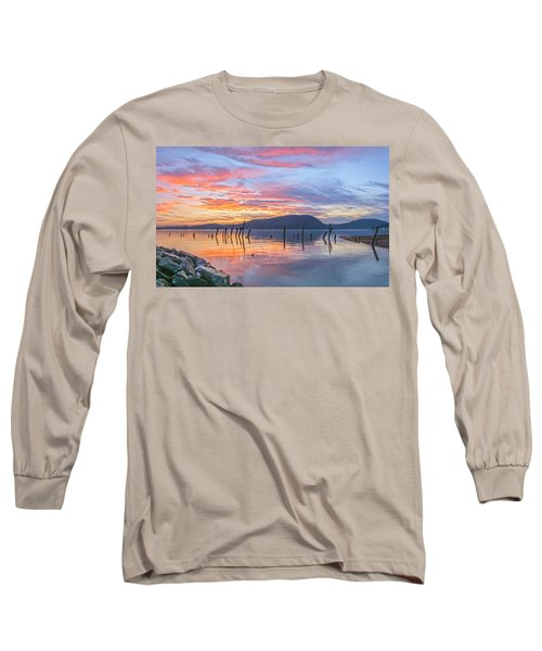 Winter Sky Woman In Peekskill Long Sleeve T-Shirt
