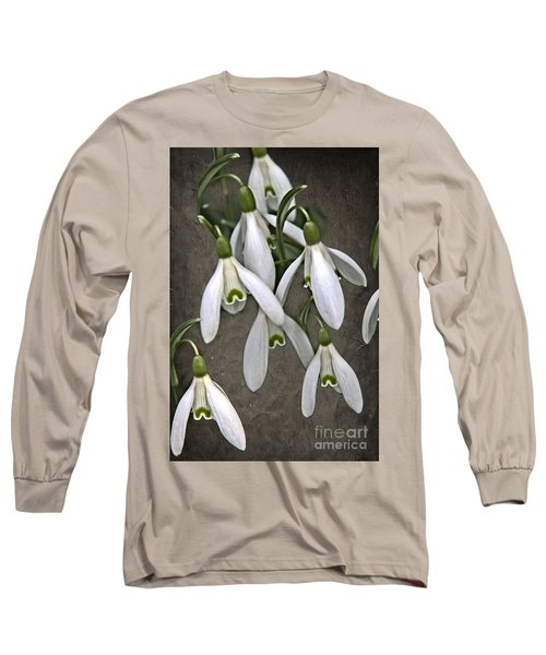Winter Snowdrop Canvas Long Sleeve T-Shirt