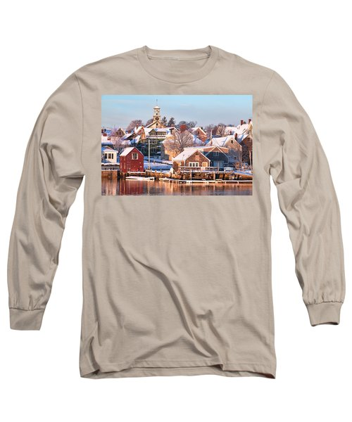 Winter Snowfall In Portsmouth Long Sleeve T-Shirt