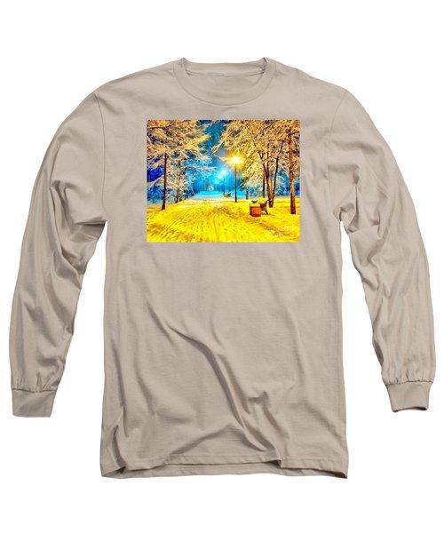 Winter Street Long Sleeve T-Shirt by Catherine Lott