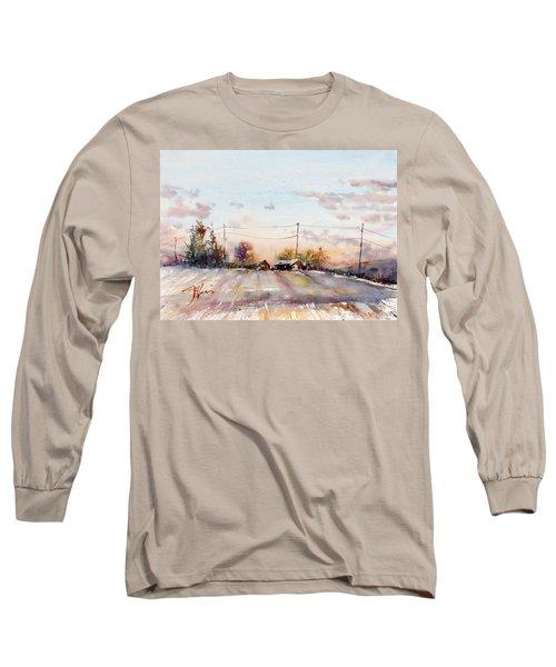 Winter Sunrise On The Lane Long Sleeve T-Shirt