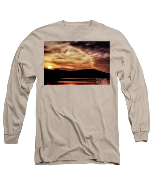 Long Sleeve T-Shirt featuring the photograph Winter Sunset by Thomas R Fletcher