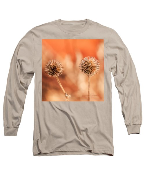 Winter Thistle Long Sleeve T-Shirt by Edward Peterson