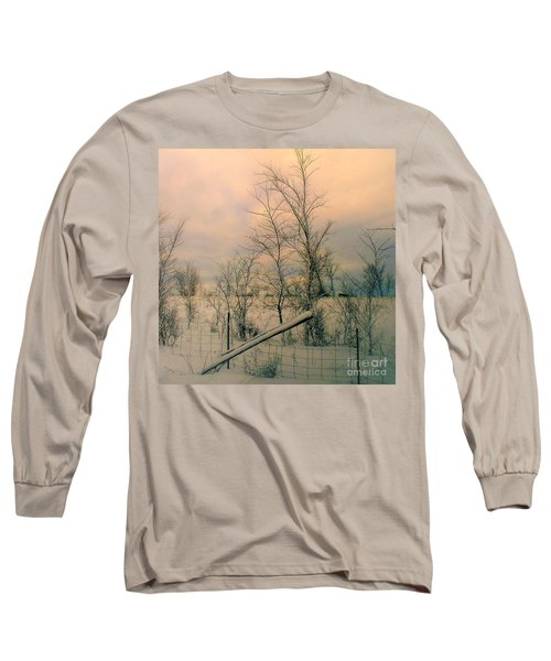 Winter's Face Long Sleeve T-Shirt by Elfriede Fulda